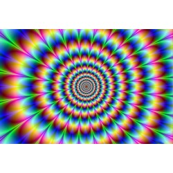 Trippy Stoner.  Laminated Poster Optical Illusion Psychedelic Colors - Art Print