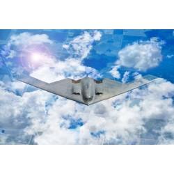 Stealth Bomber B2, Laminated Poster Military Art Posters. American heavy penetration strategic bomber. Art Print photo