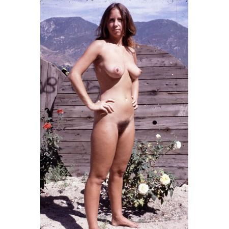 Vintage Nude Pics - Photographic Print Poster Hairy Nudist Girl Retro Sex Hot Photos