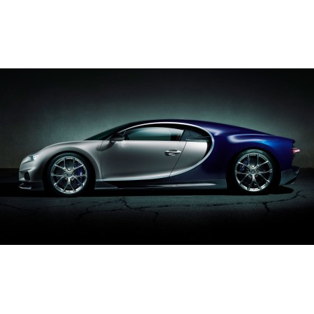 Bugatti Chiron Art Print Cars two-seater sports, monster W-16 engine