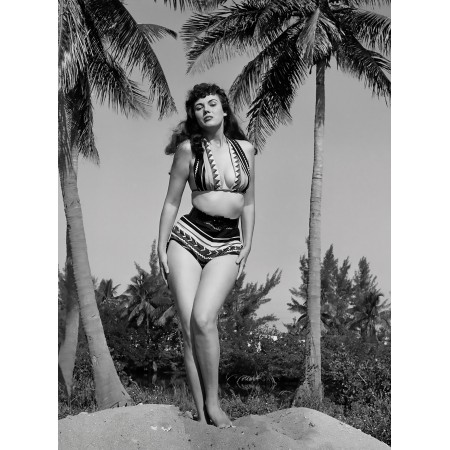 """24""""x18"""" Retro Vintage Poster Jackie Walker Poses for Bunny Yeager, 1954"""