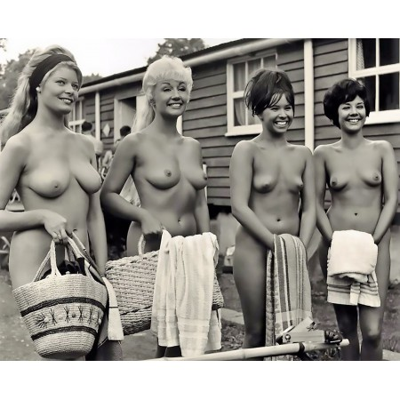 """24""""x18"""" Vintage Poster Public Nudity Naked as Nature intended"""