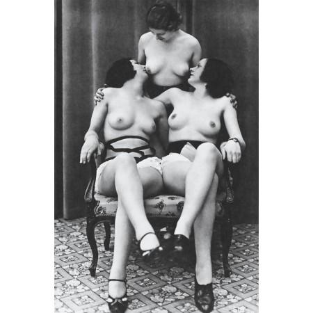 "Vintage Vixens 24""x16"" Photo Print Poster Pinup Girls, vintage nude models"