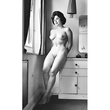 14x24in Poster Vintage Risque, Kitchen Nude Scene