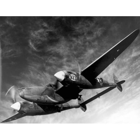 31x24in Poster Lockheed P-38H Lightning fighter-bomber