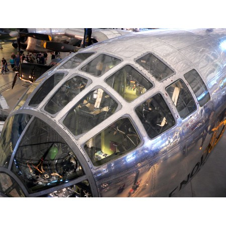 24x18in Poster Enola Gay cockpit of the B-29 Superfortress bomber